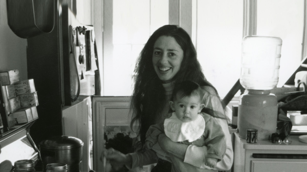 Amy's mum and baby in the kitchen