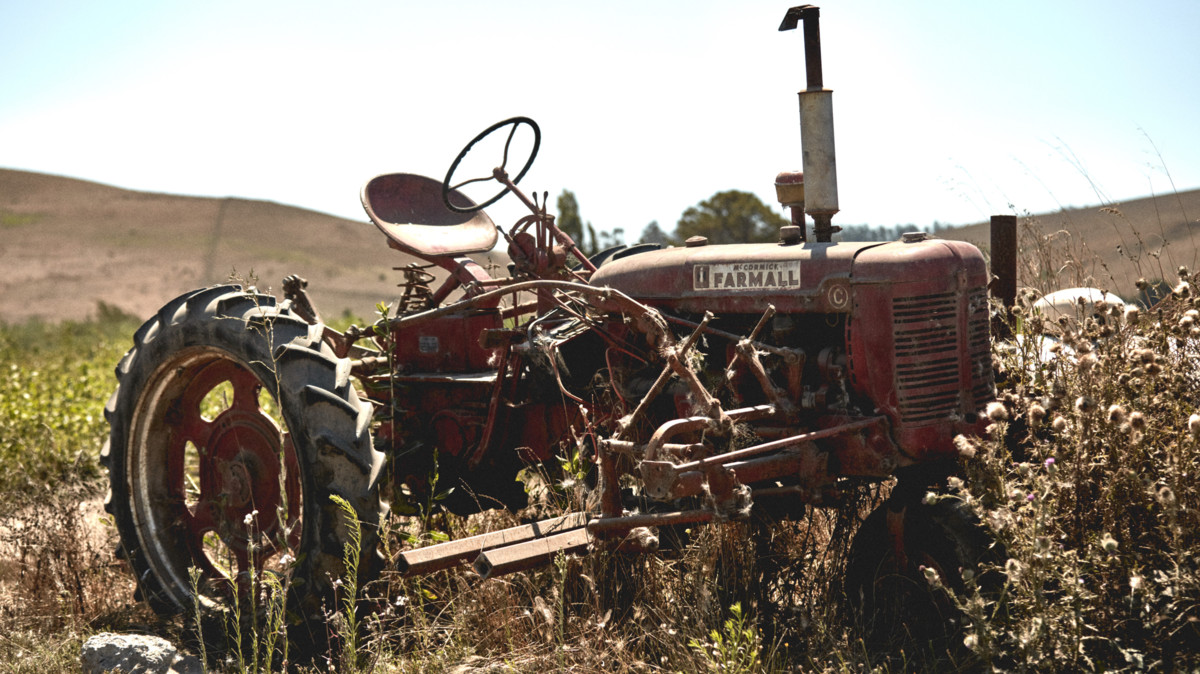 Amy's farming tractor