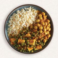 Amy's paneer rice and peas