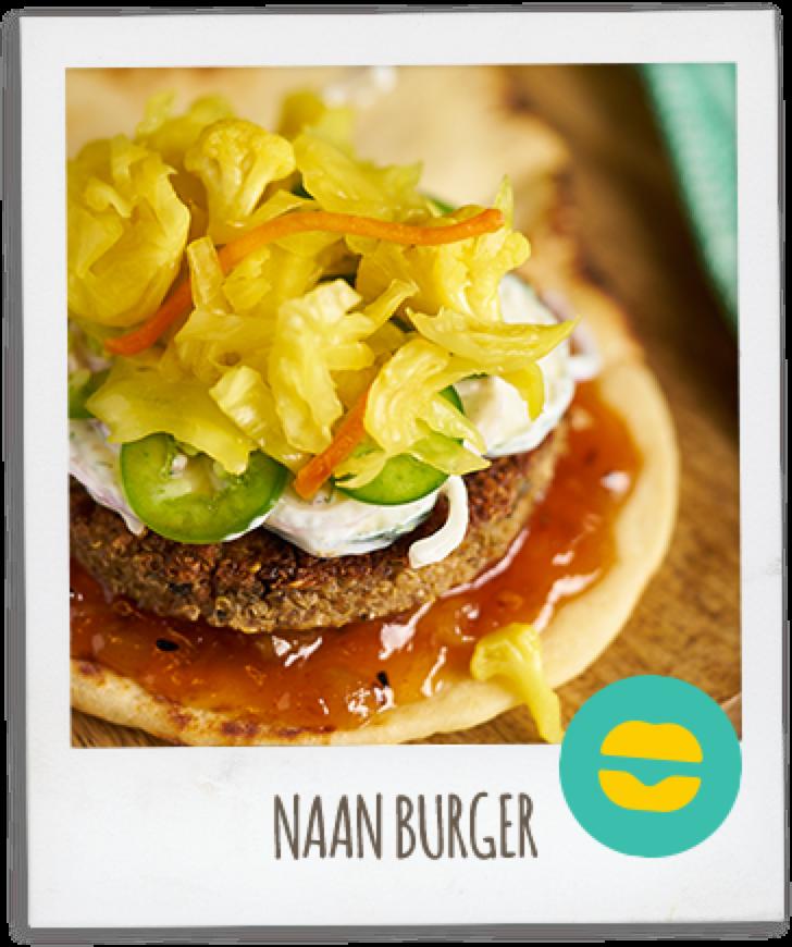 Amy's Veggie Burger NAAN