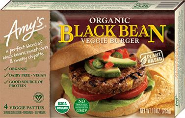 Organic Black Bean Veggie Burger