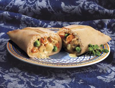 Vegetable Pie in a Pocket Sandwich/Pâté Aux Légumes Dans Une Pochette Sandwich standard image