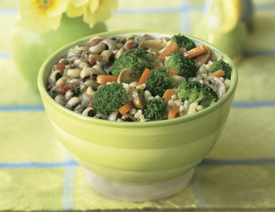 Brown Rice, Black-Eyed Peas & Veggies Bowl