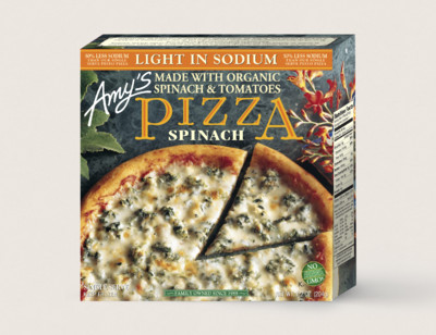 Spinach Pizza, Light in Sodium, Single Serve