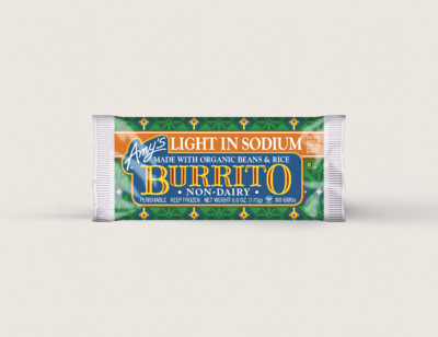 Bean & Rice Burrito, Non-Dairy, Light in Sodium