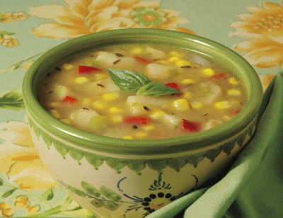 Organic Summer Corn & Vegetable Soup