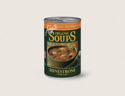 Organic Minestrone Soup, Light in Sodium