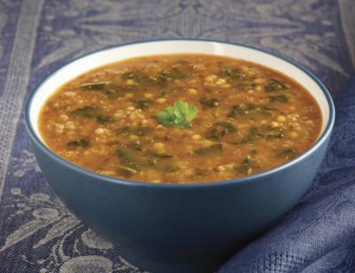 Soupe au quinoa, au chou frisé kale et aux lentilles corail bio standard image