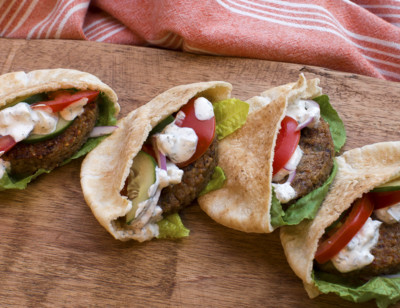Veggie Burger Pita Pockets
