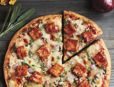 BBQ Tofu Pizza