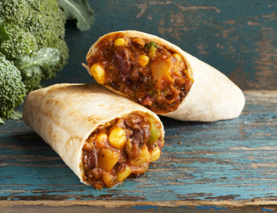 Black Bean Vegetable Burrito/Haricots Noirs Burrito