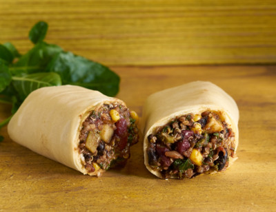 Black Bean & Quinoa Burrito, Gluten Free standard image
