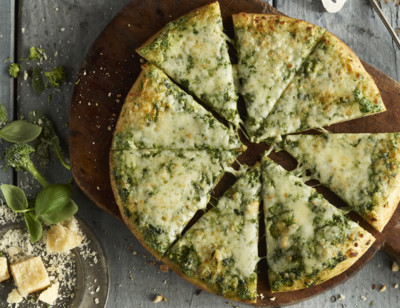 Broccoli & Spinach with 3 Cheeses Pizza