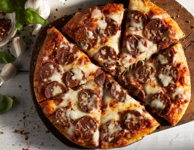 Meatless Pepperoni Pizza