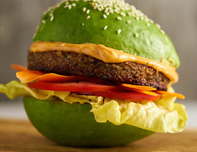 Avocado Bun Veggie Burger