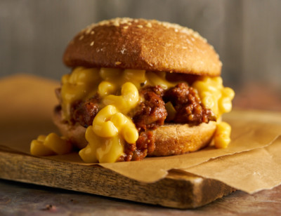 Sloppy Joe Mac & Cheese Veggie Burger