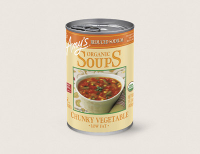 Organic Chunky Vegetable Soup, Reduced Sodium