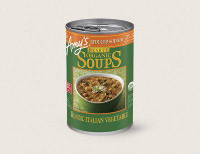 Organic Hearty Rustic Italian Vegetable Soup, Reduced Sodium