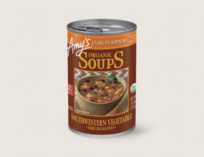 Organic Fire Roasted Southwestern Vegetable Soup, Light in Sodium