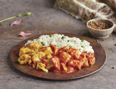 Indian Paneer Tikka with Aloo Gobi