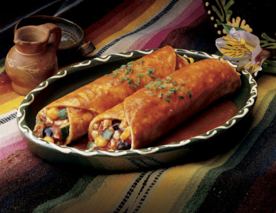 Black Bean Vegetable Enchilada standard image