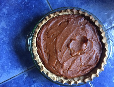 Vegan Pumpkin Pie with Pat-in-the-Pan Crust
