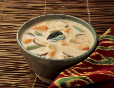 Thai Coconut Soup - Tom Kha Phak standard image
