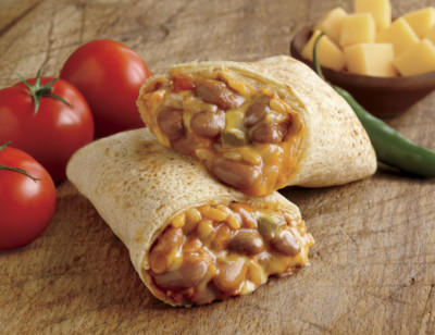 Cheddar Cheese, Bean & Rice Burrito, Gluten Free standard image