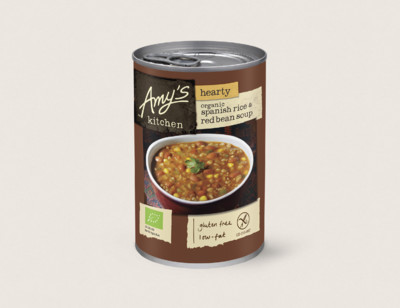 Organic Hearty Spanish Rice & Red Bean Soup