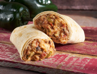 Beans, Cheese & Peppers Burrito