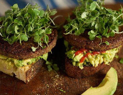 Avocado Veggie Burger Toast