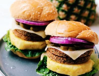 Pineapple Jalapeño Veggie Burgers