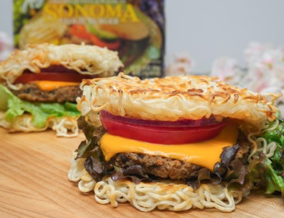The Ramen Bun Veggie Burger