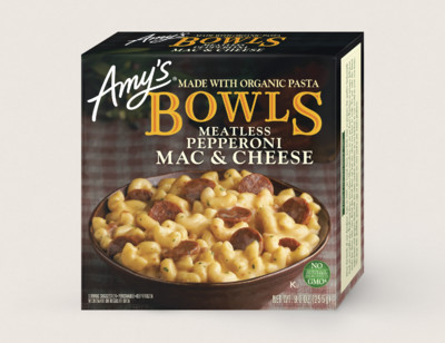 Mac & Cheese Meatless Pepperoni Bowl