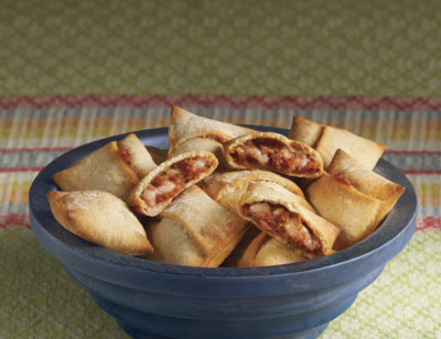 Meatless Pepperoni Pizza Snacks