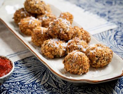 Mushroom Risotto Arancini Balls