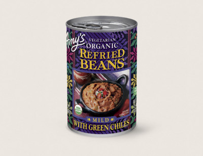 Organic Vegetarian Refried Beans with Green Chiles hover image