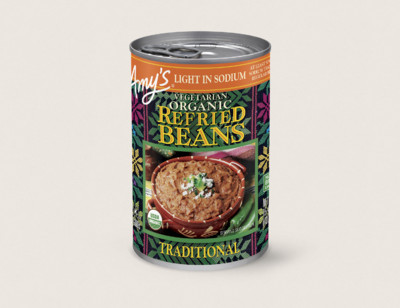 Organic Vegetarian Traditional Refried Beans, Light in Sodium hover image