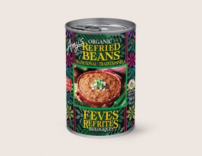 Organic Traditional Refried Beans/Traditionnels Féves Refrites Biologiques