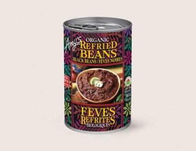 Organic Refried Black Beans/Féves Noires Biologiques