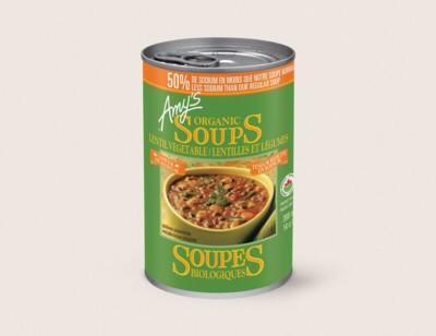 Organic Lentil Vegetable Soup, Lower in Sodium/Lentilles Et Légumes Biologiques, Teneur Réduite en Sodium hover image