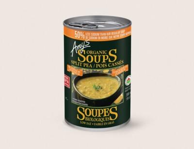 Organic Split Pea Soup, Lower in Sodium/Pois Cassés Biologiques, Teneur Réduite en Sodium hover image