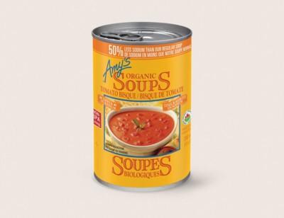 Organic Tomato Bisque, Lower in Sodium/Bisque De Tomate Biologique,Teneur Réduite en Sodium hover image