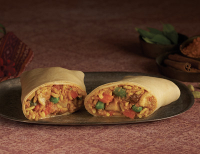 Indian Curry Korma Wrap standard image