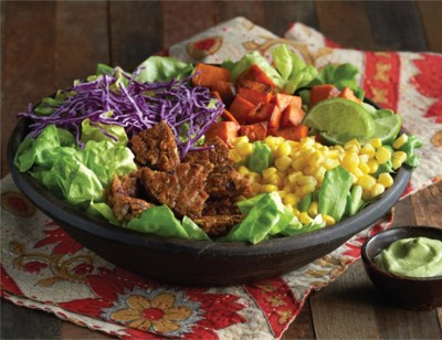 Black Bean Veggie Burger Salad Bowl