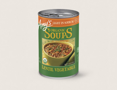 Organic Lentil Vegetable Soup, Light in Sodium hover image