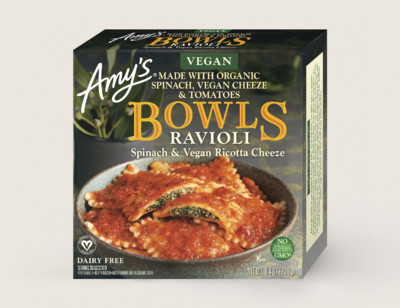 Vegan Spinach Ravioli Bowl