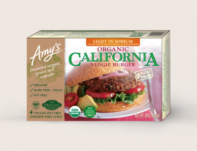 Organic California Veggie Burger, Light in Sodium