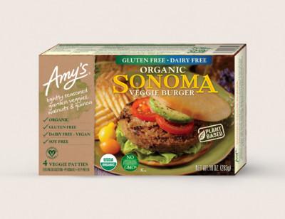 Organic Sonoma Veggie Burger, Gluten Free, Dairy Free