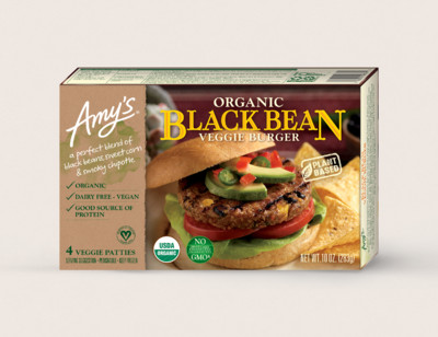 Organic Black Bean Veggie Burger